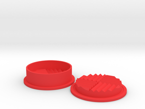 2 Piece Herb Grinder in Red Processed Versatile Plastic