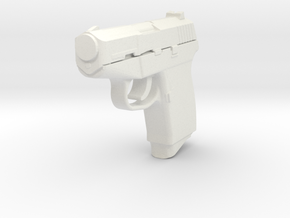 1:3 Miniature Kel-Tec P-11 in White Natural Versatile Plastic