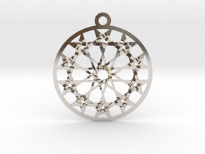 "Twelve 5 pointed Stars 1.8"" Pendant in Rhodium Plated Brass"