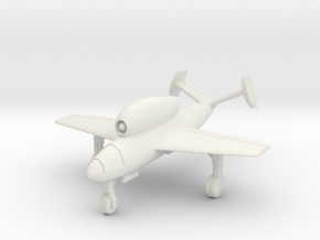 (1:144) Henschel Hs 132 (Wheels down) in White Natural Versatile Plastic