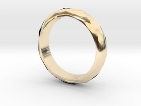 Low Poly Ring Narrow in 14k Gold Plated Brass: 6 / 51.5
