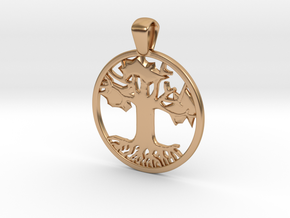 Tree of Life/Hope Pendant (.08 inches Thick) in Polished Bronze