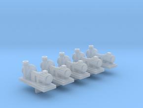 Zentrifugalpumpe neuere Bauart 5erSet - TT 1:120 in Smooth Fine Detail Plastic