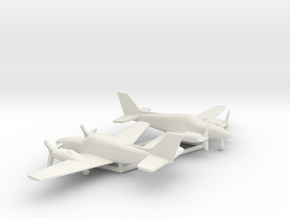 Beechcraft Baron G58 in White Natural Versatile Plastic: 1:160 - N