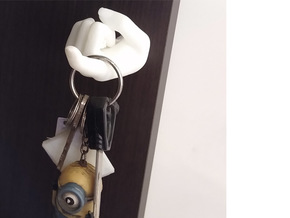 Index Finger Key Holder  in White Natural Versatile Plastic