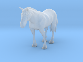 O Scale Clydesdale Horse in Smooth Fine Detail Plastic