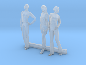 O Scale Women 3 in Smooth Fine Detail Plastic