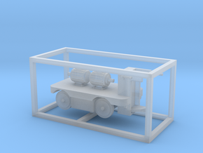 E-Karren Flachwagen 2x E-Motoren A - 1:120 TT in Smooth Fine Detail Plastic