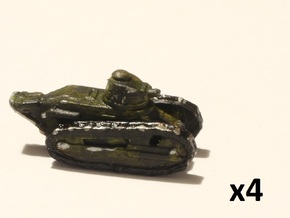 6mm 1/285 Renault FT tanks in Smoothest Fine Detail Plastic
