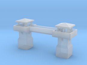 Guardhouses with a walkway in Smooth Fine Detail Plastic
