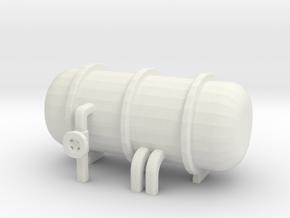 Water / gas tank 4 in White Natural Versatile Plastic