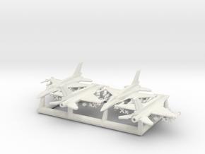 "F-16D ""Barak"" & I ""Sufa"" w/Gear x4 (FUD) in White Natural Versatile Plastic: 6mm"