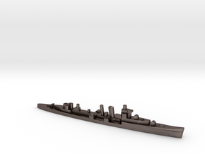 HMS Colombo 1:3000 WW2 naval cruiser in Polished Bronzed-Silver Steel