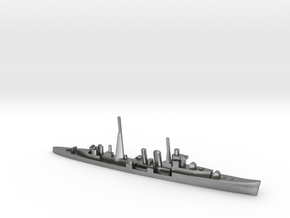 HMS Colombo (masts) 1:1800 WW2 naval cruiser in Natural Silver