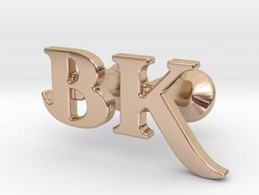Monogram Cufflinks B & K in 14k Rose Gold Plated Brass