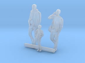 S Scale Men and Boy 3 in Smooth Fine Detail Plastic