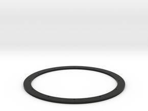 Super Glue-On Ring in Black Natural Versatile Plastic