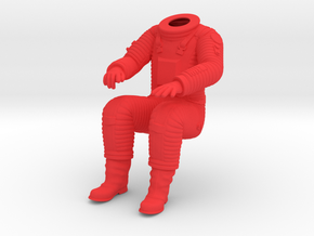 SF Astronaut, BODY /  Cockpit Moebius EVA Pod in Red Processed Versatile Plastic