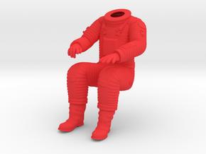 SF Astronaut, BODY /  Cockpit Moebius EVA Pod in Red Processed Versatile Plastic