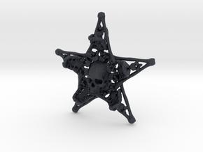 Mystical Pentagram Bone Pendant in Black PA12