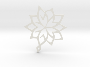 Flower pendant Abstract in White Natural Versatile Plastic