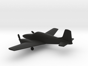 Beechcraft Travel Air D95A in Black Natural Versatile Plastic: 1:100