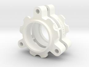048006-01 Tamiya Bruiser Wheel Spacer in White Processed Versatile Plastic