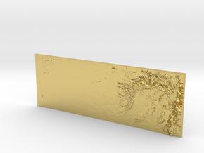 Auburn Ravine in Polished Brass