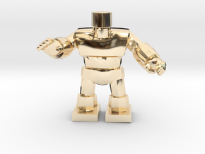 Dragon Quest Golem 1/60 miniature for games andRPG in 14k Gold Plated Brass