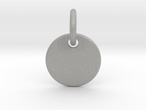 Initial Pendant in Aluminum