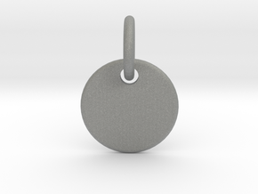 Initial Pendant in Gray PA12
