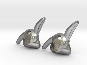 Bibo- rabbit earings in Natural Silver