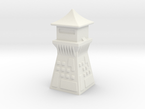 China Style Guard Tower 6mm Game Scale in White Natural Versatile Plastic
