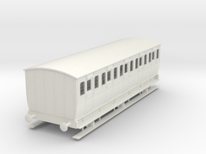 0-35-mgwr-6w-3rd-class-coach in White Natural Versatile Plastic