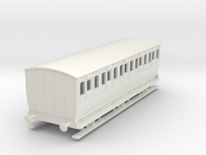 0-76-mgwr-6w-3rd-class-coach in White Natural Versatile Plastic