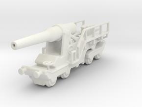 canon de 240  sur affut truc mle 1/144 in White Natural Versatile Plastic
