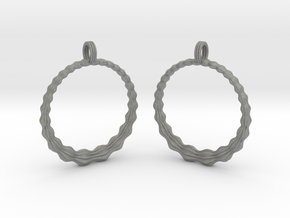 Groovy Earrings in Gray PA12