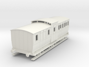 0-87-mgwr-6w-brake-3rd-coach in White Natural Versatile Plastic