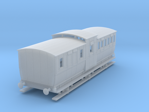 0-152fs-mgwr-6w-brake-3rd-coach in Smooth Fine Detail Plastic