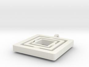 Teleport in White Premium Versatile Plastic: Large