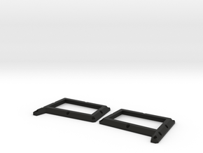 Traxxas Tactical unit Front winshield guard Pair in Black Natural Versatile Plastic