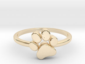 PawPrint Ring  in 14k Gold Plated Brass