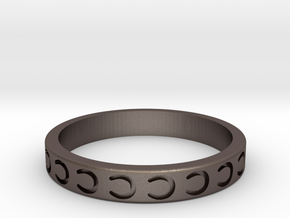 Horseshoe Stackable in Polished Bronzed-Silver Steel