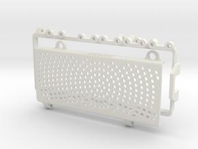 P40702-01 HG P407 Battery Retainer in White Natural Versatile Plastic
