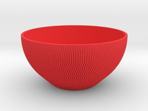 Bowl Pixels in Red Processed Versatile Plastic
