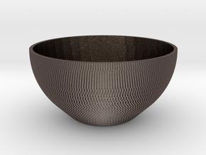Bowl Pixels in Polished Bronzed-Silver Steel