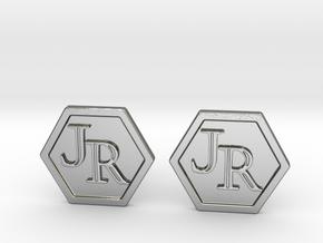 Monogram Cufflinks JR in Polished Silver