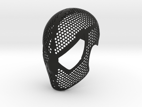 Black Suit Face Shell  - 100% Accurate Raimi Mask in Black Natural Versatile Plastic: Small