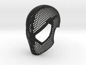 Black Suit Face Shell  - 100% Accurate Raimi Mask in Black Natural Versatile Plastic: Small