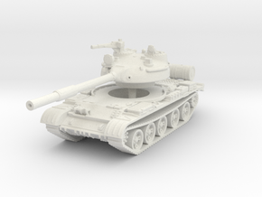 T62 Tank 1/87 in White Natural Versatile Plastic